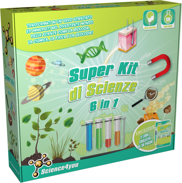 Super Kit de Scienze 6 in 1, [Science4you_Italia]