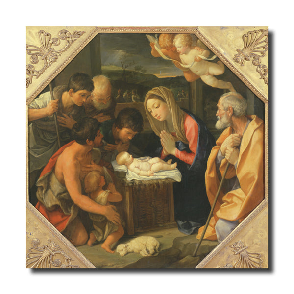 "<p style=""color:grey"">The Adoration of the Shepherds<p style=""color_gold"">Ref: KB23"