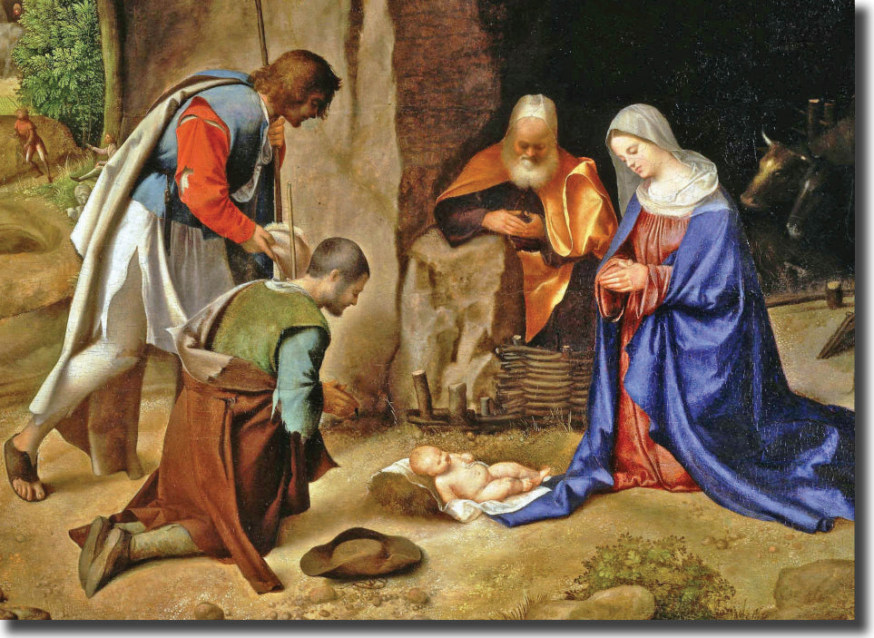 "<p style=""color:grey"">The Adoration of the Shepherds<p style=""color_gold"">Ref: KB32"