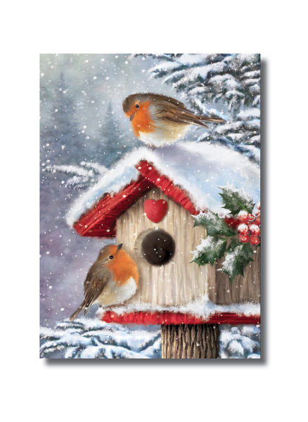 "<p style=""color:grey"">Robins on a Bird Box<p style=""color_gold"">Ref: KF36"