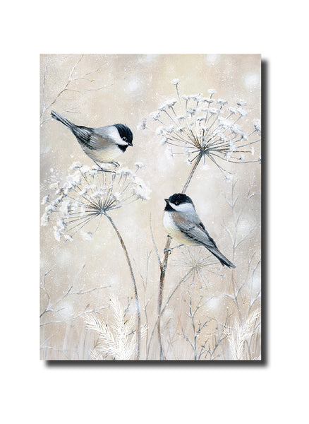 "<p style=""color:grey"">Chickadees and Cow Parsley<p style=""color_gold"">Ref: KQ12"