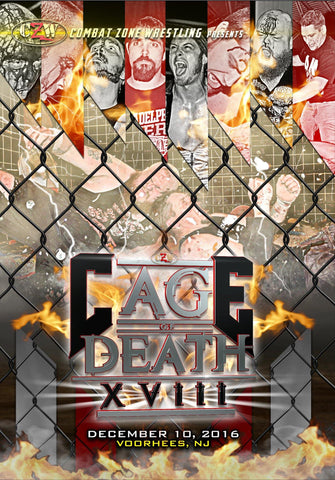 "CZW ""Cage of Death 18"" 12/10/2016 DVD"