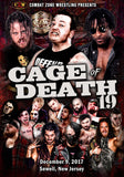 "CZW ""Cage of Death 19"" 12/9/17 DVD/Poster Bundle"