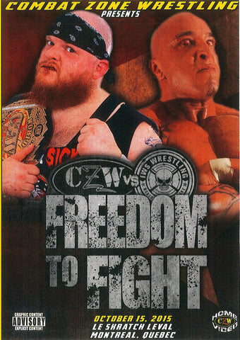"CZW ""Freedom To Fight"" 10/15/2015 DVD"