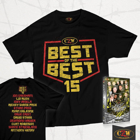 "CZW ""Best of the Best 15"" Shirt + DVD Bundle"