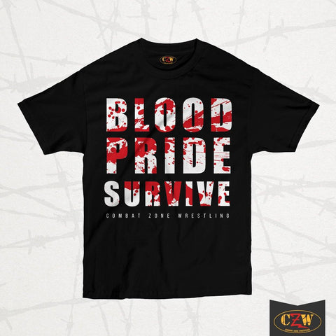 "CZW ""Blood Pride Survive"" Shirt"