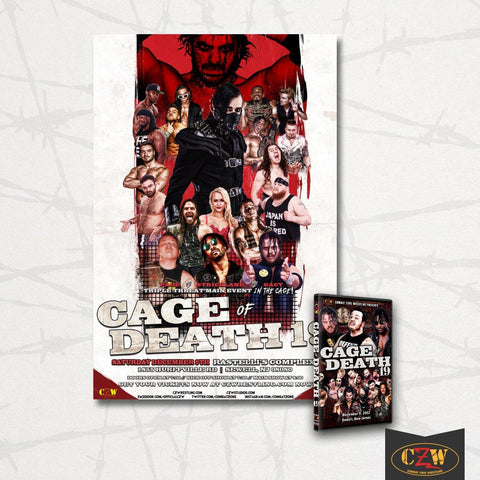 "CZW ""Cage of Death 19"" 12/09/17 DVD/Poster Bundle"