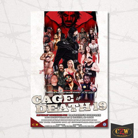 "CZW ""Cage of Death 19"" Poster"