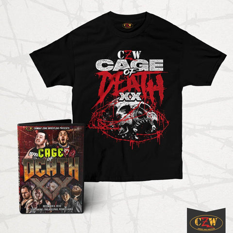 "CZW ""Cage Of Death XX"" Shirt & DVD Bundle"