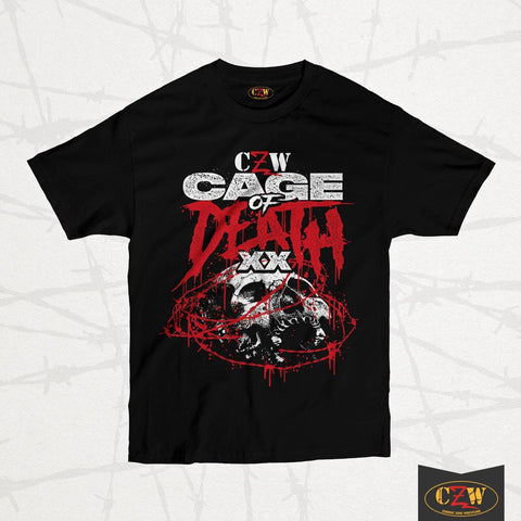 "CZW ""Cage of Death 20"" Shirt"