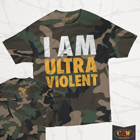 "CZW ""I Am Ultraviolent"" Camo Shirt"