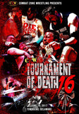 "CZW ""Tournament of Death 16"" 6/10/17 DVD"