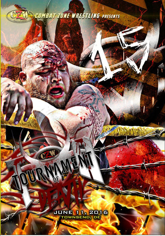 "CZW ""Tournament of Death 15"" 6/11/2016 DVD"