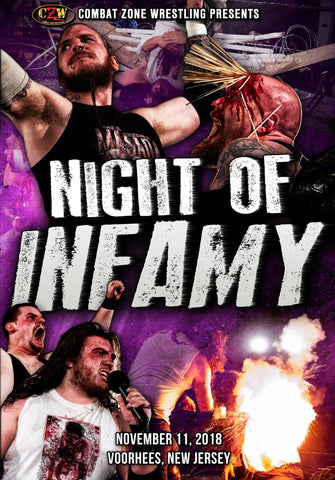 "CZW ""Night of Infamy"" 11/11/2018 DVD"