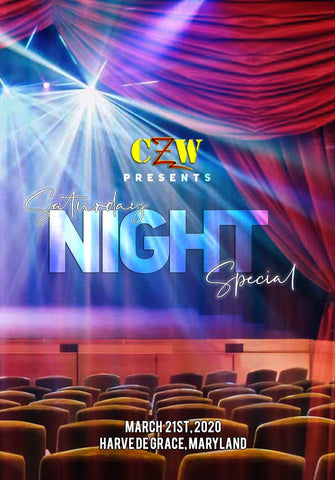 "CZW ""Saturday Night Special"" 03/21/2020 DVD"