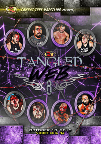 "CZW ""Tangled Web 8"" 10/10/2015 DVD"