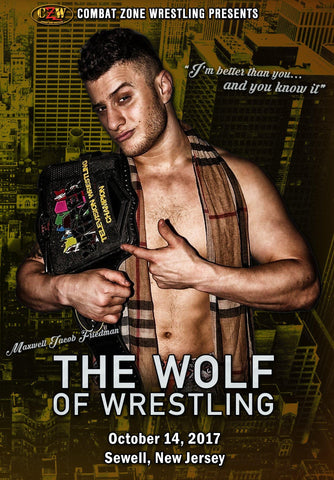 "CZW ""The Wolf Of Wrestling"" 10/14/2017 DVD"