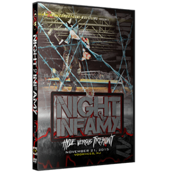 "CZW ""Night of Infamy 2015"" 11/21/2015 DVD"