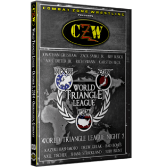 "CZW ""WXW World Triangle League 2014 N2"" 10/3/14 DVD"