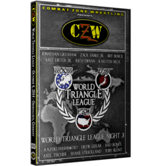"CZW ""WXW World Triangle League 2014 N3"" 10/4/2014 DVD"