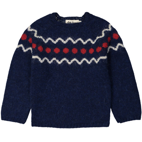Marmotte Knit Sweater Spiti Blue