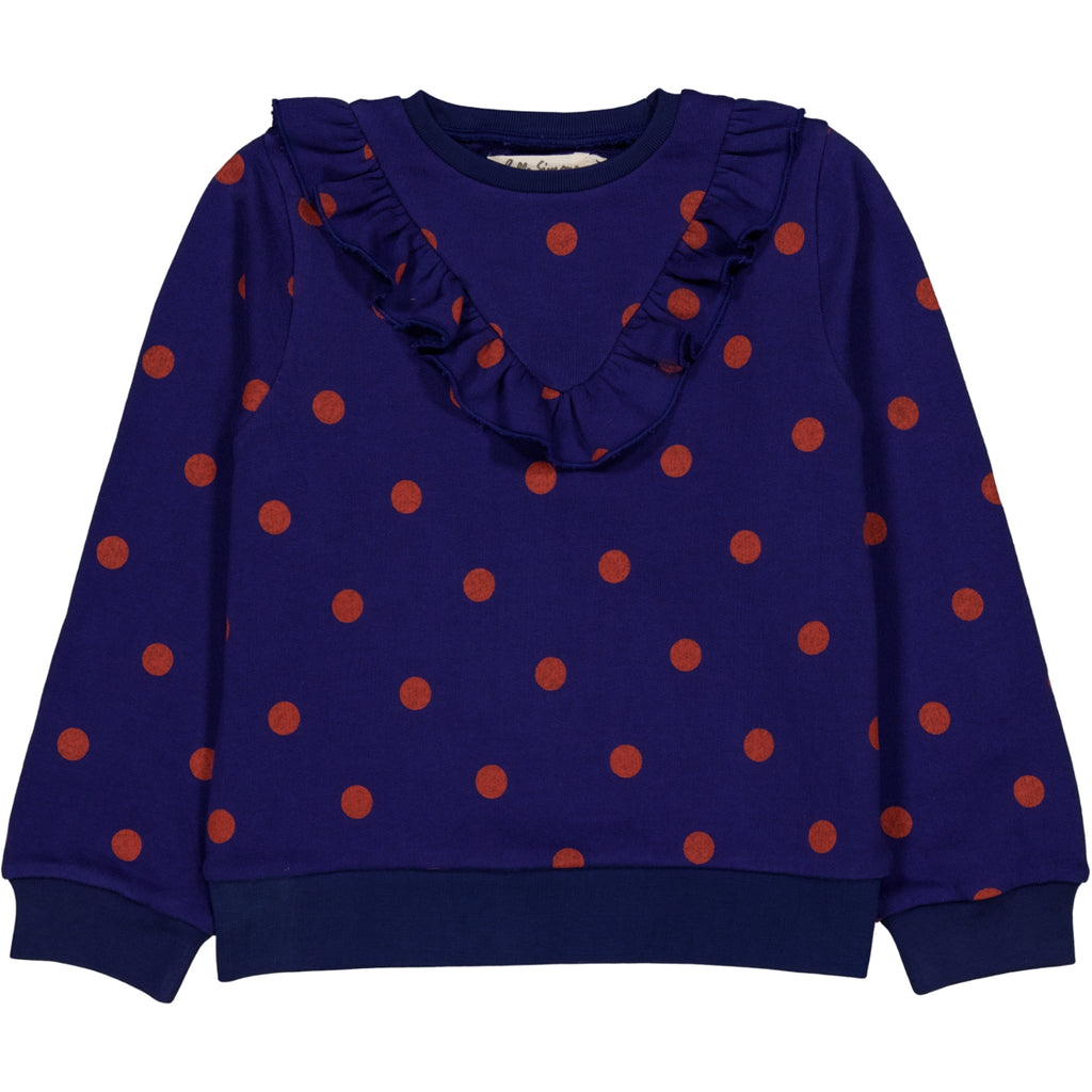Albertine sweatshirt Dots Blue