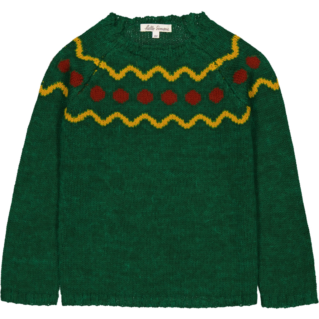 Marmotte Knit Sweater Spiti Green