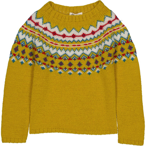 Marmotte Knit Sweater Scottish Yellow