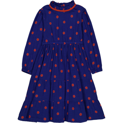 Mirabelle dress Dots Blue