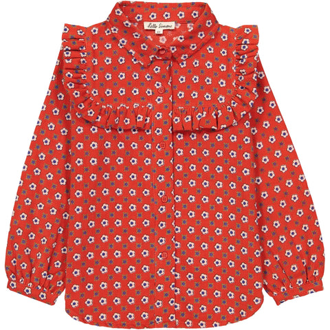 Léonie shirt Marguerite red