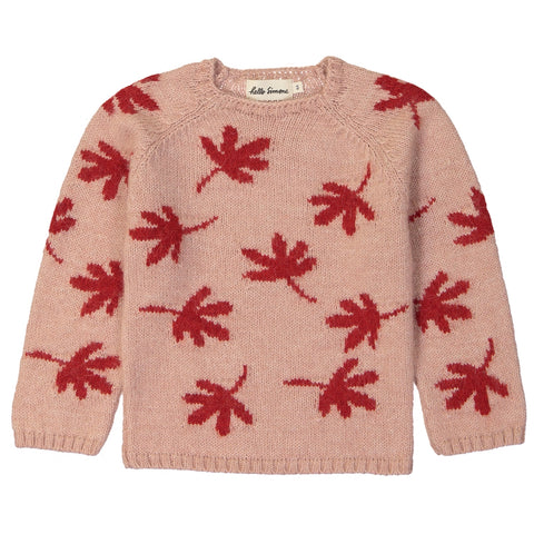Marmotte Knit Sweater Leaves