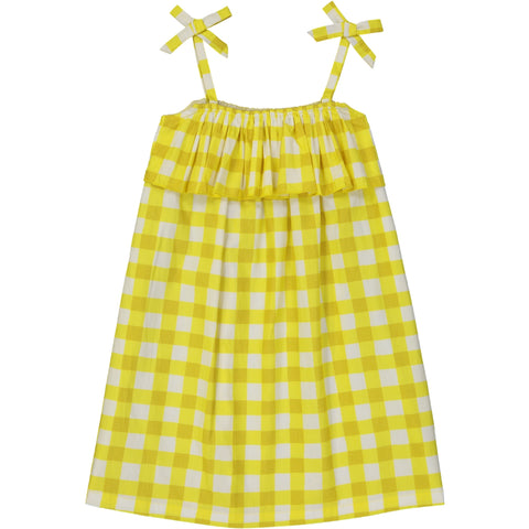 Eurydice dress Vichy Yellow