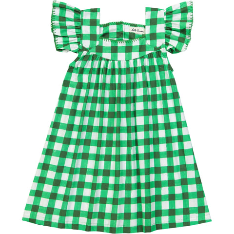 Katell dress Vichy Green