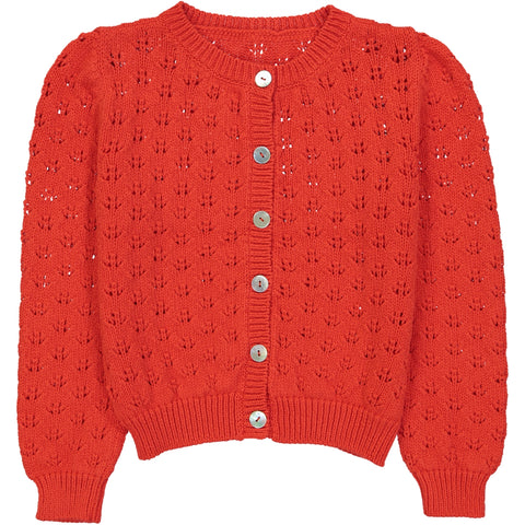 June Cardigan Red