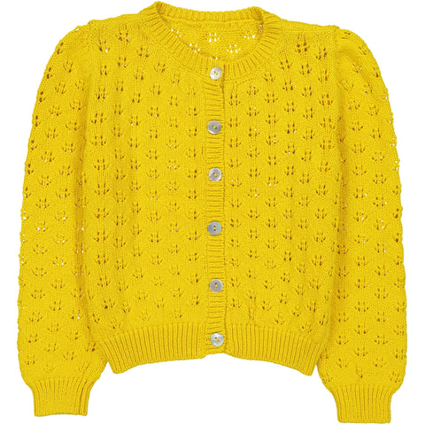 June Cardigan Yellow