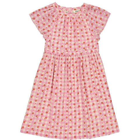 Cassiopée dress Vichy Rose