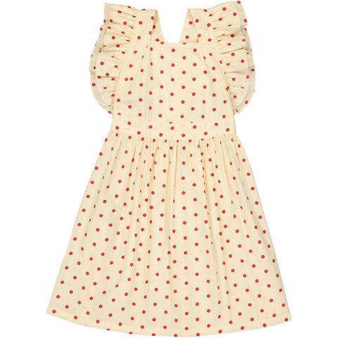 Laura dress Dots Red