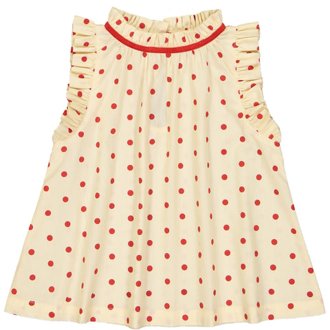 Mischa Blouse Dots Red