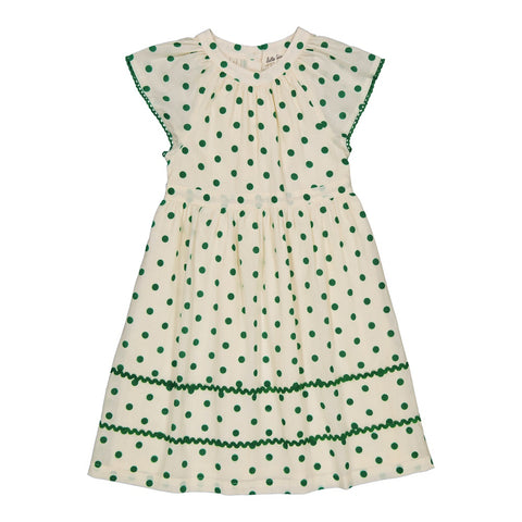 Cassiopée dress Dots Green
