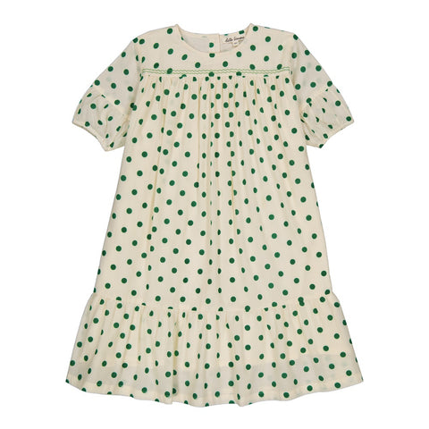 Violette dress Dots Green