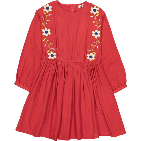 Thétis Dress Flower Red
