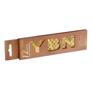 YBN 12 Speed Chain SLA1210 (Silver & Gold) inc. Molten Speed Wax Treatment