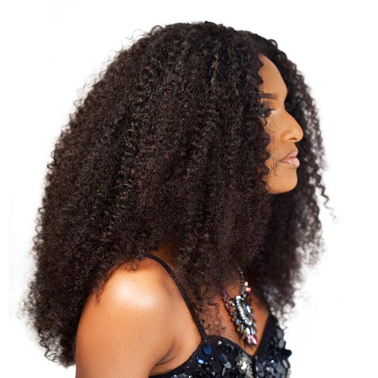 Curly Natural Hair Clip In Weft Extensions 3b 3c Curl Type