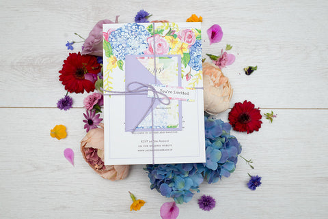 Special offer on our Watercolour Flowers wedding invitations