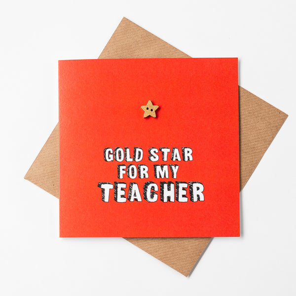 Gold star for my teacher