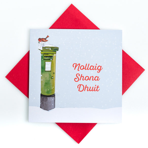 Nollaig Shona Duit -  Irish Post Box Christmas Card