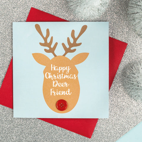 Happy Christmas Deer Friend Card
