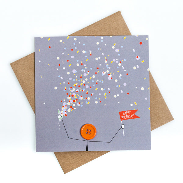 Party Popper Birthday Card