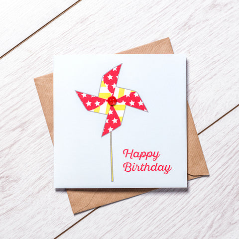 Windmill Birthday Card