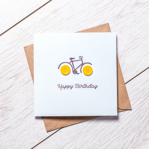 Boy Bike Birthday Card